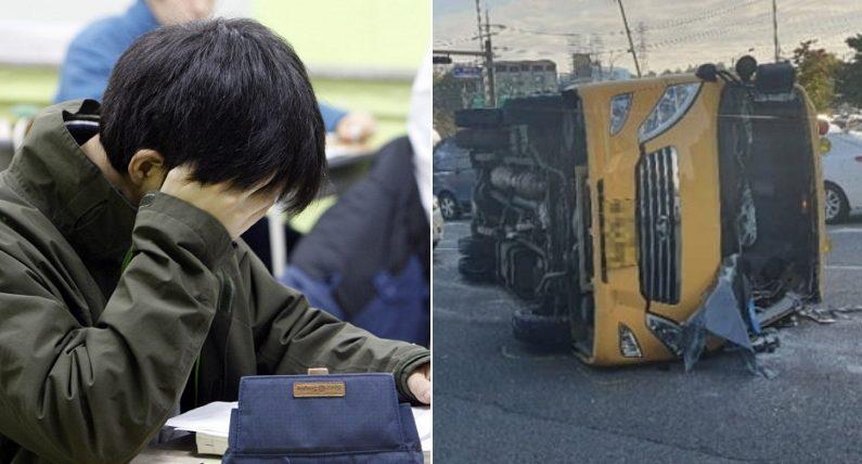 [좌] 기사와 관련 없는 자료 사진 / 연합뉴스, [우] 스쿨버스 사고 현장 / 연합뉴스