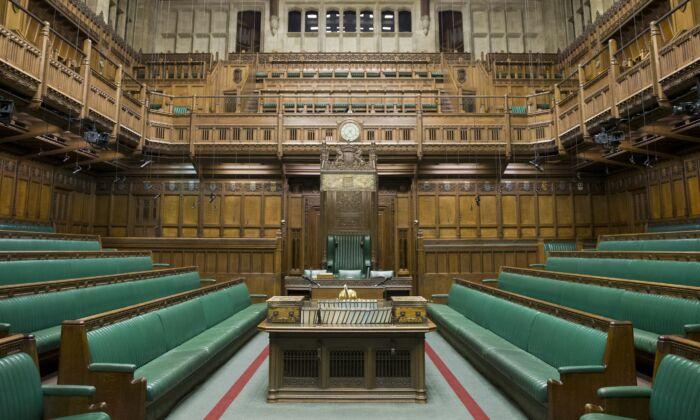런던 중심가에 위치한 의회 의사당 내부. 2015. 11. 12.   JUSTIN TALLIS/AFP/Getty Images