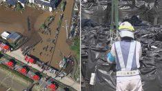 """일본 정부 """"태풍에 유실된 방사능 폐기물, 환경에 아무런 영향도 없다"""""""
