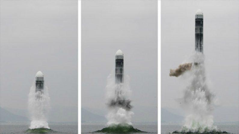 중앙통신 홈페이지에 공개된 북극성-3형 발사 모습. 2019.10.3| 연합뉴스