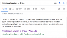 """""""중국, 구글 검색결과 통해 해외 여론조작 시도…공산체제 선전"""""""