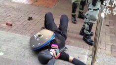 홍콩 경찰, 중국 공산당 통치 반대 시위하던 10대 고교생 가슴에 실탄 총격