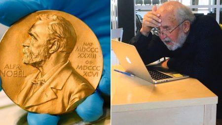 카페에서 자기가 '노벨상' 받은 사실 알게 된 78살 할아버지의 표정