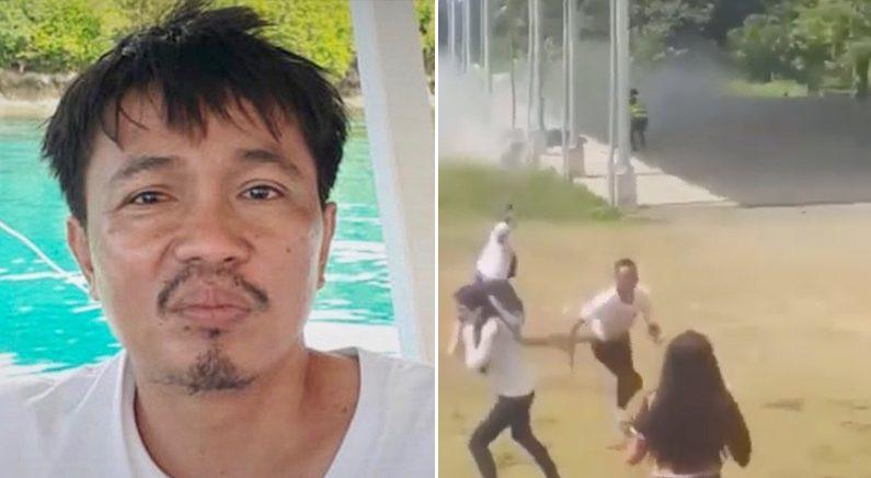 [좌] 제이슨 마그노 경사 | 필리핀 미사미스 오리엔탈 경찰서 [우] 현장 영상 유튜브 캡처