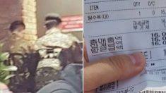 """""""탕수육 맛있겠다""""라며 짜장면만 시킨 군인 3명에게 '공짜 탕수육'이 전달됐다"""
