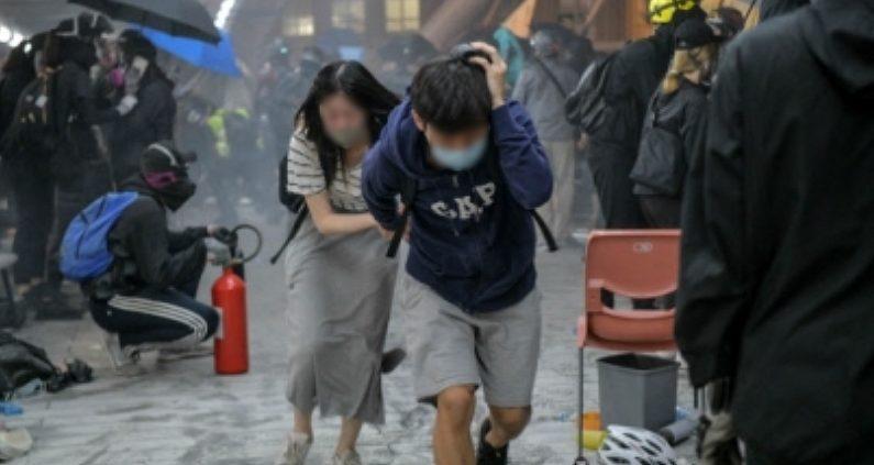 홍콩 이공대 현장 / 연합뉴스