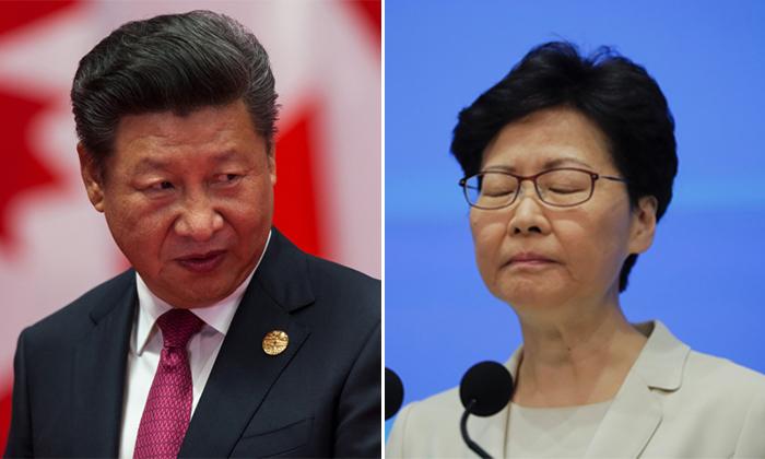 [좌] 시진핑 중국 공산당 총서기 | Shutterstock [우] 캐리 람 홍콩 행정장관 | AP=연합뉴스