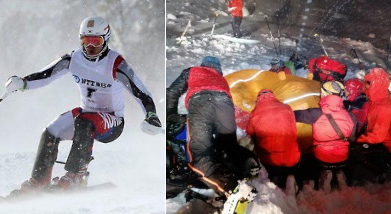 [좌]기사와 관련 없는 사진 [우] 스키를 타다 조난을 한 남성의 구조 장면 | 연합뉴스