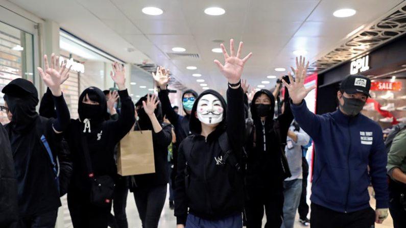 홍콩 시위대, 쇼핑몰서 '中 보따리상 반대' 주말집회 2019.12.28 | 로이터=연합뉴스