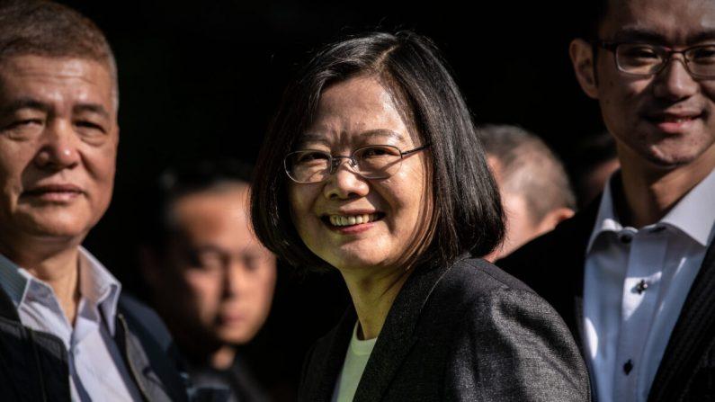 2020년 1월 11일 대만 대선(총통선거)에서 승리하며 재선에 성공한 차이잉원 총통   Carl Court/Getty Images