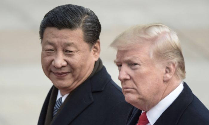 중국 베이징에서 도널드 트럼프 대통령과 시진핑(習近平) 중국 국가주석. 2017. 11. 9.|Fred Dfour/AFP/Getty Images