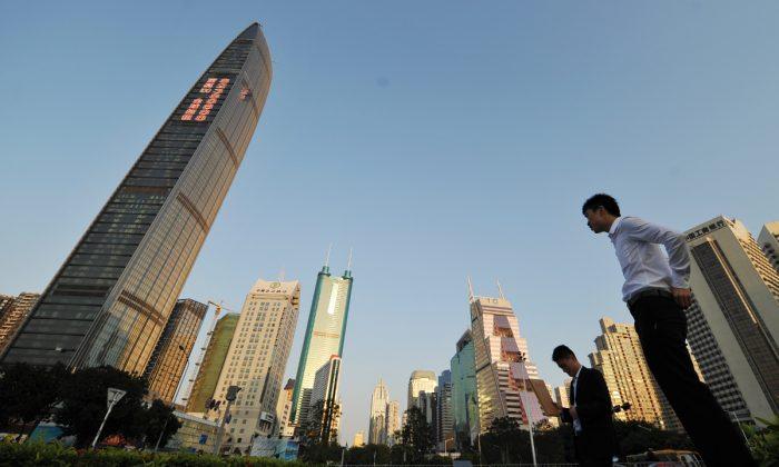 중국 광둥(廣東)성 선전의 건물. | Peter Parks/AFP/Getty Images