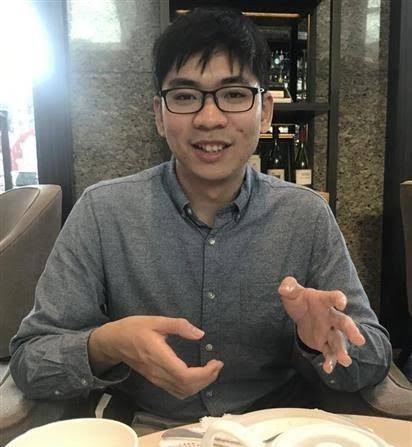대만 국립정치대 대학원생 위이청(余以澄·24)씨 | 산케이 신문