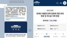'문재인 대통령 탄핵' 국민청원 23일만에 120만 돌파…반대는 이틀만에 80만