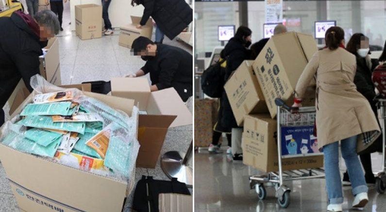 한국에서 상자째 마스크를 사가는 중국인들   연합뉴스