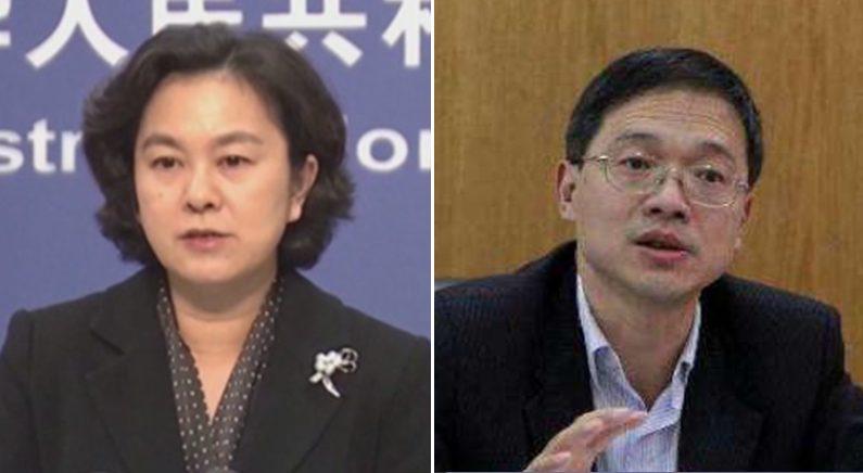 [좌] 화춘잉 중국 외교부 대변인   연합뉴스 [우] 관칭 회장   바이두