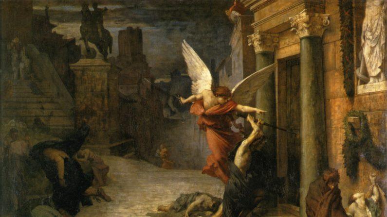 프랑스 화가 쥘 엘리 들로네(Jules Elie Delaunay,1828-1891),'로마의 흑사병(Peste à Rome)',1869년 작품,파리 오르세 미술관 소장. | 아트 리뉴얼센터 제공