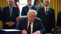 트럼프, 사상 최대 2조2천억 달러 경기부양법안에 서명