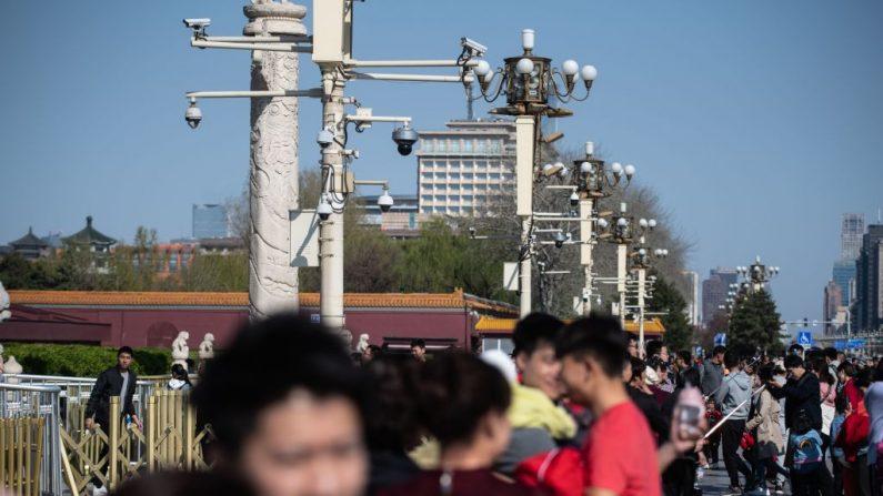 기사와 직접 관련 없는 자료사진. 중국 감시카메라 | STR/AFP via Getty Images