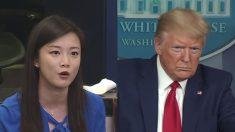 """""""누구 위해 일하나, 중국?"""" 트럼프 질문에 """"민간기업"""" 발뺌한 홍콩 봉황TV 기자"""