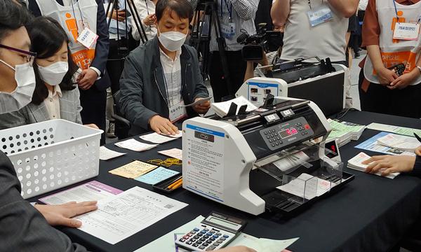 28일 경기도 과천 선관위 청사에서 '4.15 총선 투표 및 개표 시연회'가 열렸다. | 사진=이유정 기자/에포크타임스