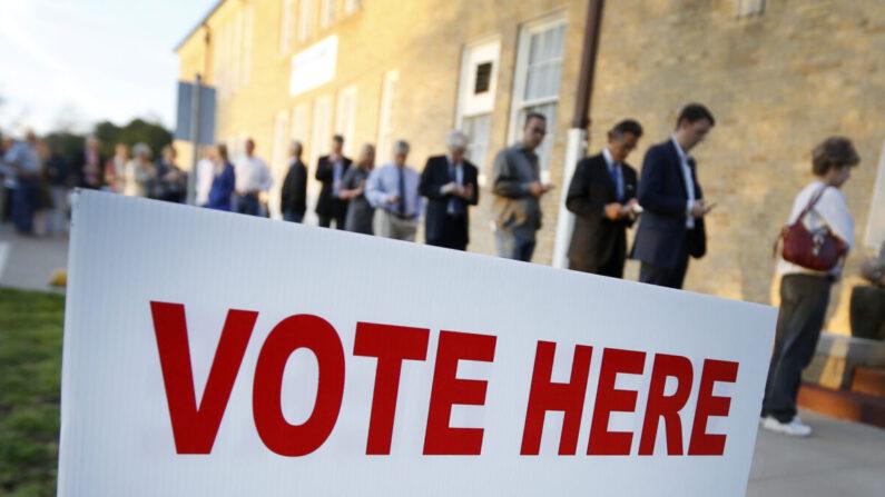지난 2016년 대선 당시 텍사스주의 한 투표소   Ron Jenkins/Getty Images