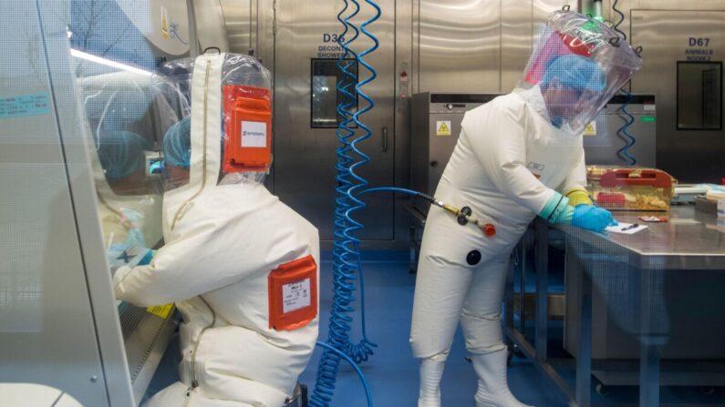 우한 바이러스 연구소의 생물안전 4등급 실험실. 2017. 2. 23 | Johannes Eisele/AFP via Getty Images