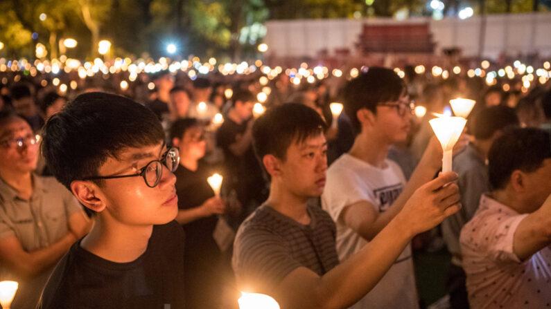 지난 2019년 6월 4일 홍콩 빅토리아 파크에서 열린 톈안먼 항쟁 31주기 추모식 | 에포크타임스