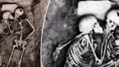 전쟁 중 군인들 피해 숨어 있다가 입 맞추며 숨진 '연인 해골'이 발견됐다