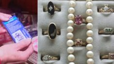 600원 주고 면봉 샀다가 '다이아몬드' 보석 발견한 아주머니가 한 행동