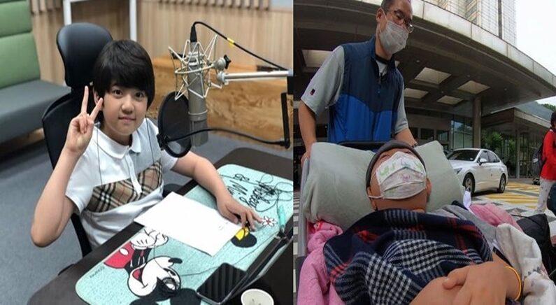 아역배우 김강훈(왼쪽), 최기극 군(오른쪽)/밀알복지재단 제공