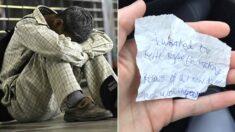 빵집에서 머뭇거리던 노숙자에게 빵 사준 여학생이 받은 꼬깃꼬깃 '영수증 편지'