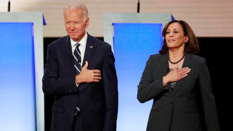 조 바이든 민주당 대선후보와 카말라 해리스 민주당 부통령후보(오른쪽) | 로이터=연합뉴스