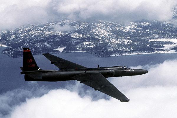 미 공군 U-2 정찰기가 훈련 비행하고 있다.   미 공군