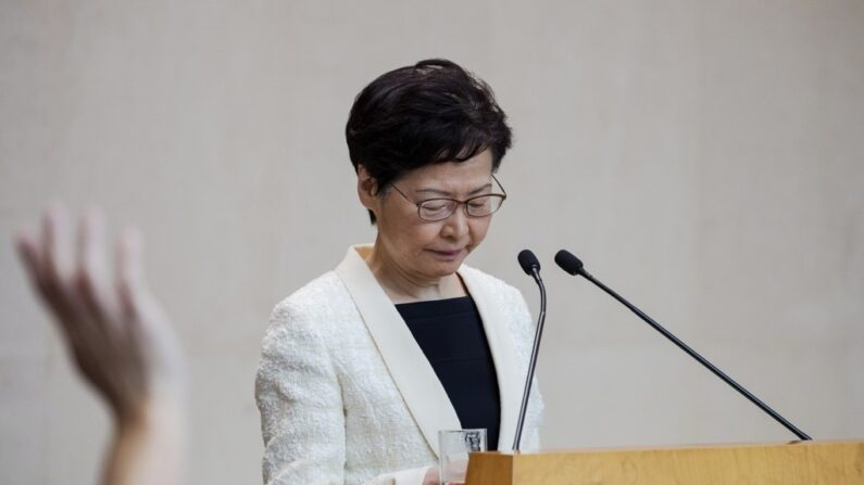캐리 람 홍콩 행정장관. 2019년9월3일   EPA=연합뉴스