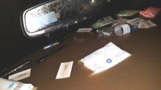 침수된 '부산 지하차도'에서 극적으로 빠져나온 시민이 찍은 사진