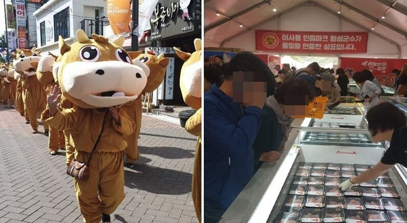 2019년 횡성한우축제/연합뉴스