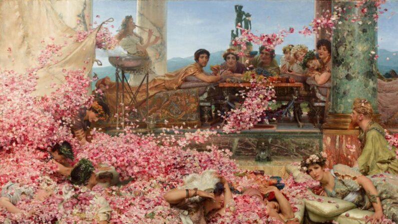 로렌스 앨마 태디마(Lawrence Alma-Tadema)의 '헬리오가발루스의 장미', 1888년, 멕시코 페레즈 시몬 컬렉션 |Public Domain