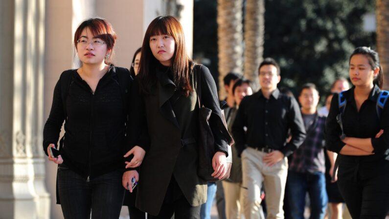 기사와 직접 관련 없는 자료사진. 미국 LA의 중국인 학생들 | Frederic J. Brown/AFP/Getty Images