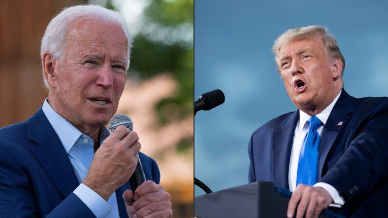 조 바이든 민주당 대선후보와 도널드 트럼프 대통령 | AFP=연합뉴스
