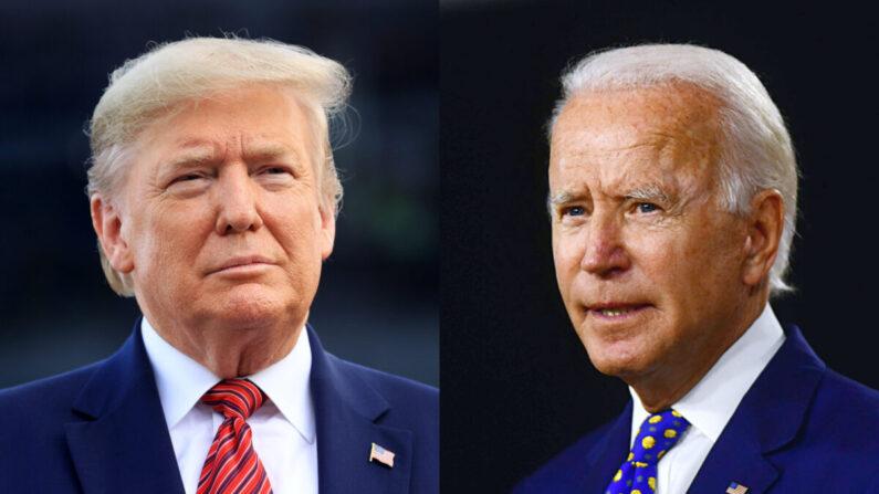 도널드 트럼프 미 대통령(왼쪽)과 조 바이든 전 부통령 | Chris Graythen/Getty Images; Andrew Caballero-Reynolds/AFP via Getty Images