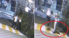강남 가로수길서 여자친구랑 싸우다 지나가는 여자 폭행한 20대 남성 (충격 주의)