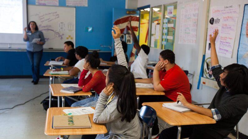 기사와 직접 관련없는 자료사진. 지난 2014년 10월 28일 뉴욕 브루클린의 한 학교 수업 장면. | 에포크타임스 자료사진