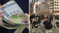 부부싸움 후 홧김에 아파트 15층서 600만원 뿌린 아저씨, 주민들이 찾아 돌려줬다