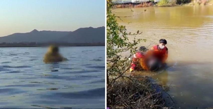 산책 하다 저수지에 빠진 70대 할머니, '오리털 패딩' 덕분에 목숨 구했다