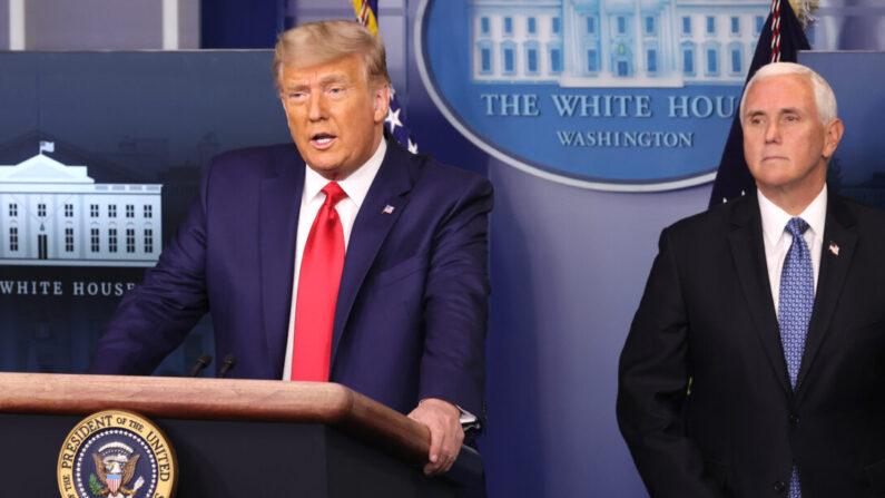 도널드 트럼프 미국 대통령(왼쪽)과 마이크 펜스 부통령 | Chip Somodevilla/Getty Images