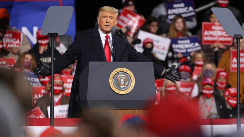 지난달 31일 펜실베이니아 유세 중인 도널드 트럼프 대통령 | 로이터=연합뉴스
