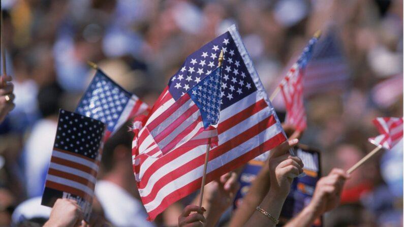 미국 국기인 성조기 | Stephen Dunn/Allsport