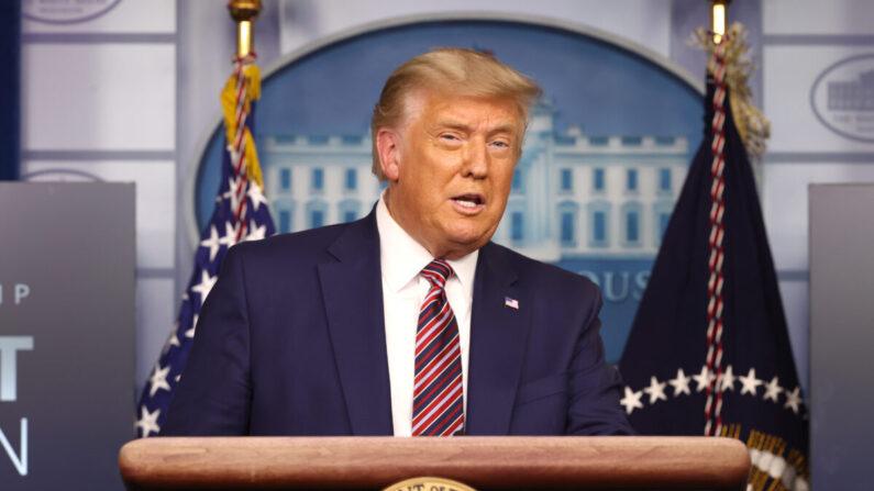 도널드 트럼프 미국 대통령이 11월 20일(현지 시각) 백악관에서 기자회견을 열고 발언하고 있다. | Tasos Katopodis/Getty Images