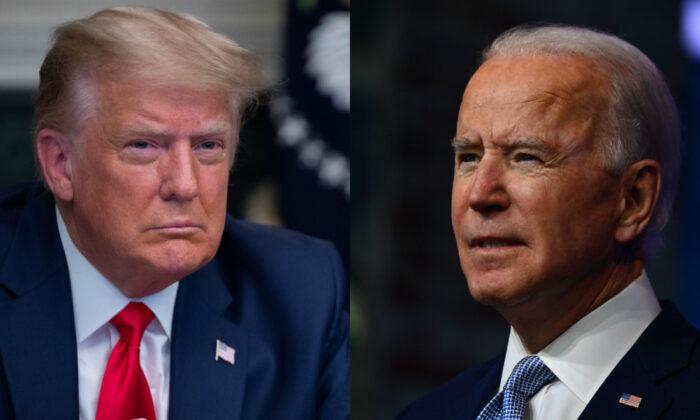 도널드 트럼프 대통령(왼쪽)과 민주당 조 바이든 대선후보 | Getty Images